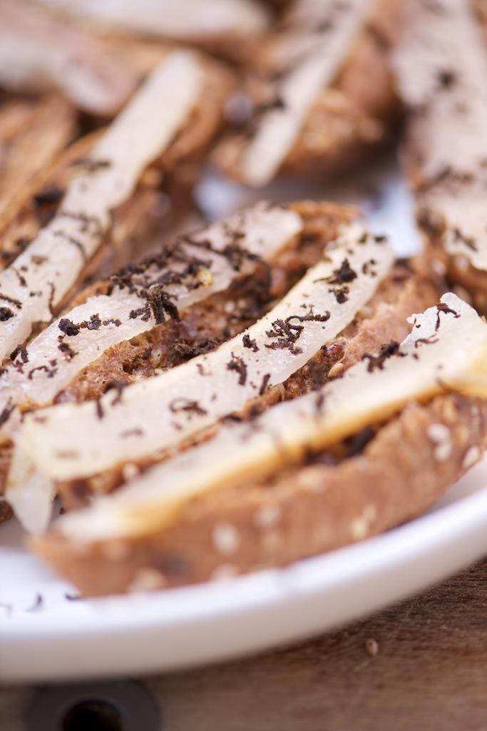 recette de crostini de lard de Colonnata à la truffe