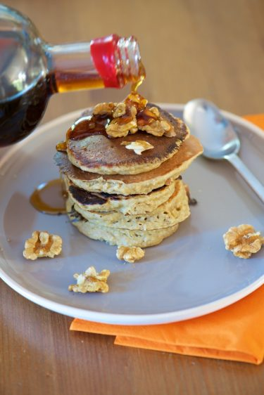 recette de pancakes sans gluten ni laitages aux flocons d'avoine