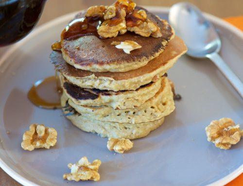 Pancakes aux flocons d'avoine et à la banane (gluten-dairy free)