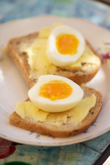 recettes de toasts aux oeufs mollets à la vapeur