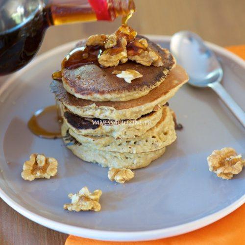 recette de pancakes à la banane et flocons d'avoine