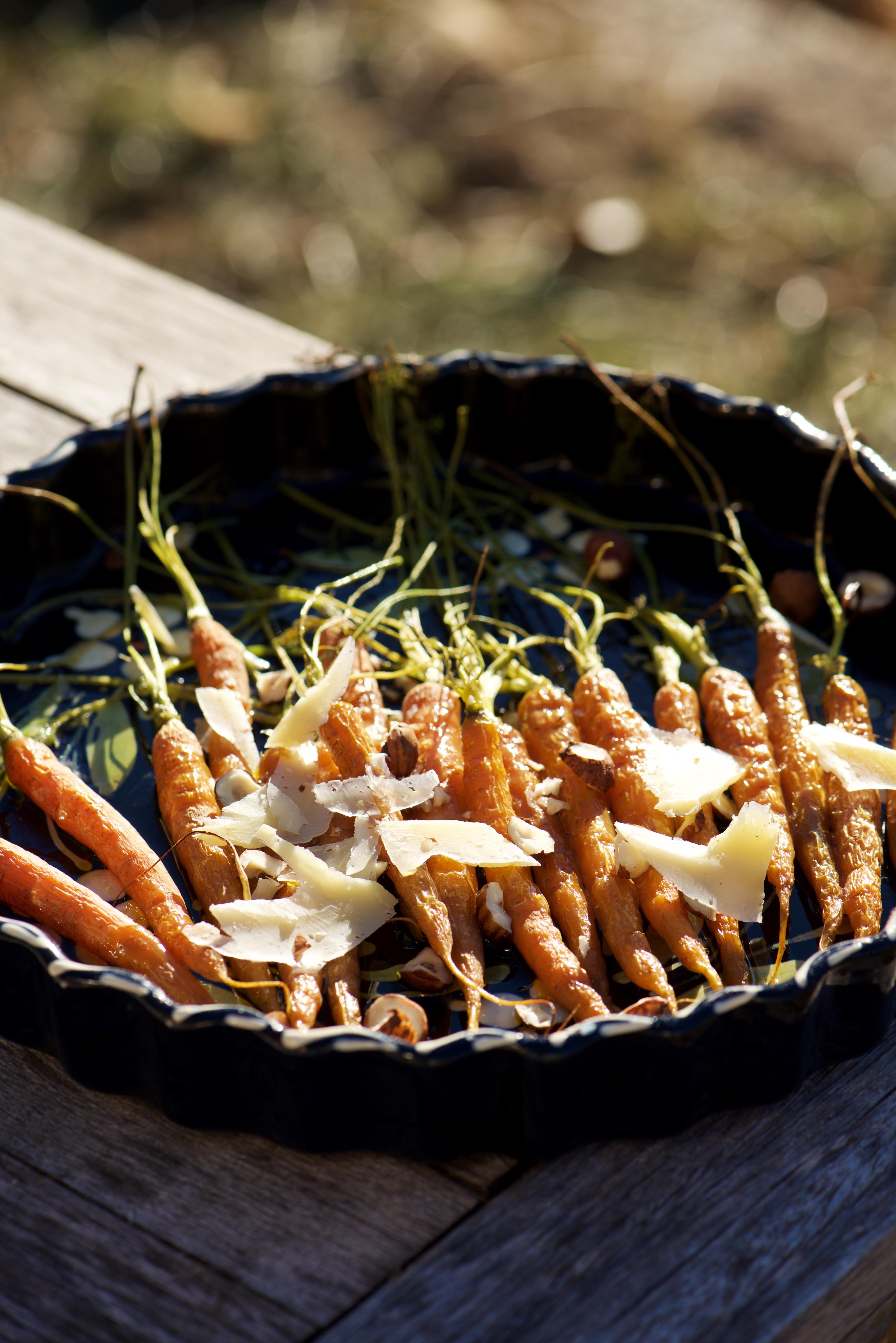 recettes de carottes roties au four tome de montagne et noisettes
