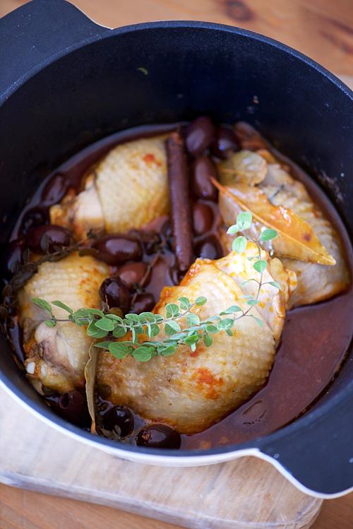 recette de poulet à la grecque, olives de Kalamata