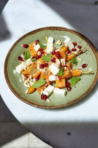 photo de recette végétarienne patate douce, carotte, féta