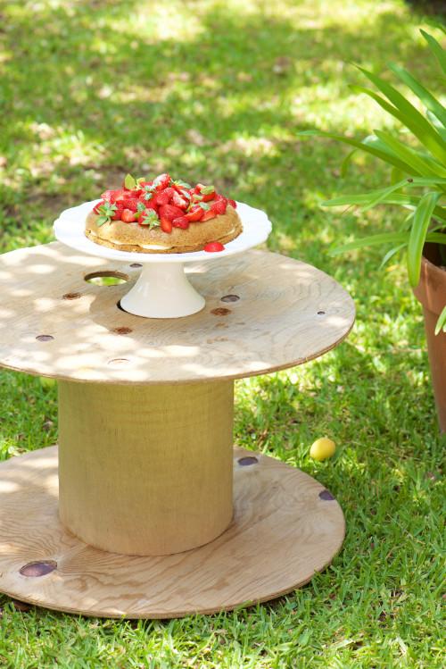 photo culinaire de Victoria sponge cake aux fraises sans gluten