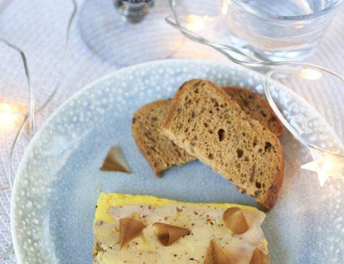 Foie gras comme le fait Alain Ducasse et copeaux d'épices