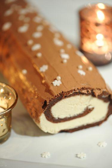 recette de bûche aux deux chocolats sans gluten