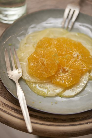 recette simple de carpaccio de betterave jaune et mandarine