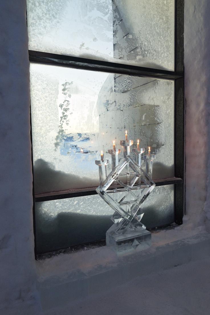 chandelier de glace