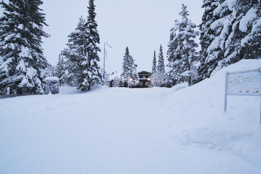 Icehotel en Laponie Suédoise sous la neige
