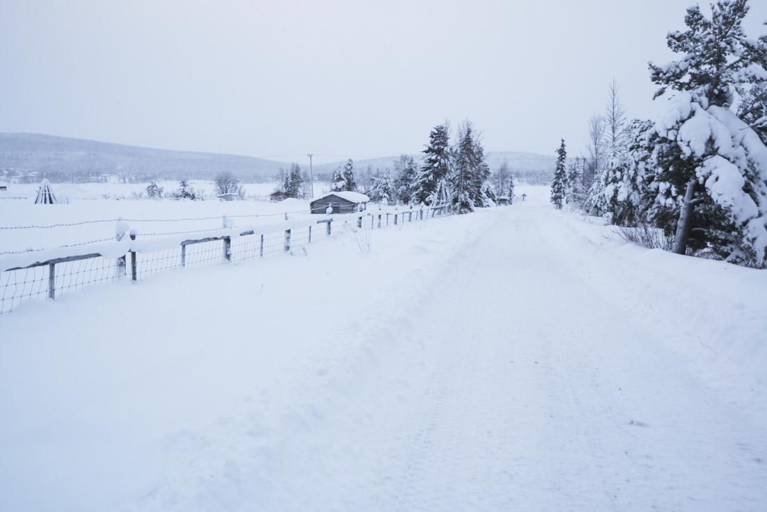 JOur de neige en Laponie Suédoise