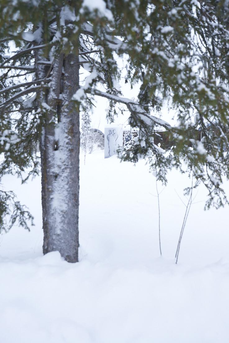 Sculpture en magnesite au icehotel Kiruna