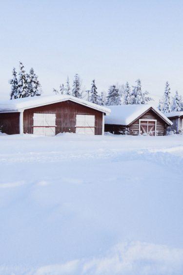 Chalets du Icehotel à Jukkasjärvi