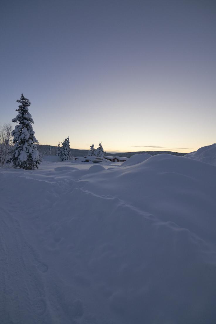 photo de paysage en Laponie Suédoise