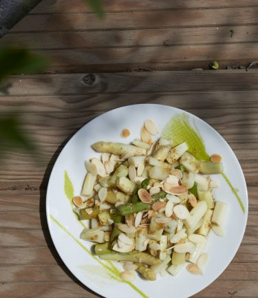 recette d'asperges et amandes