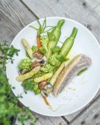 recette de filet de canard cuisson vapeur légumes et cédrat