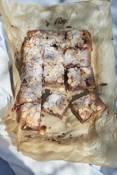 recette de gâteau aux fruits rouges et amandes
