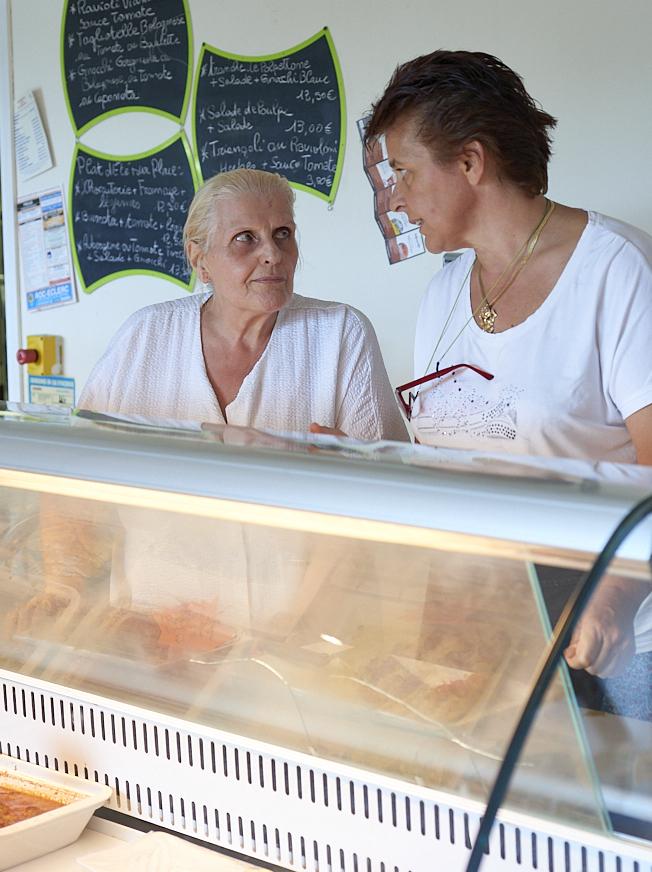 Sandra et sa mère à Tavola con l'Italia