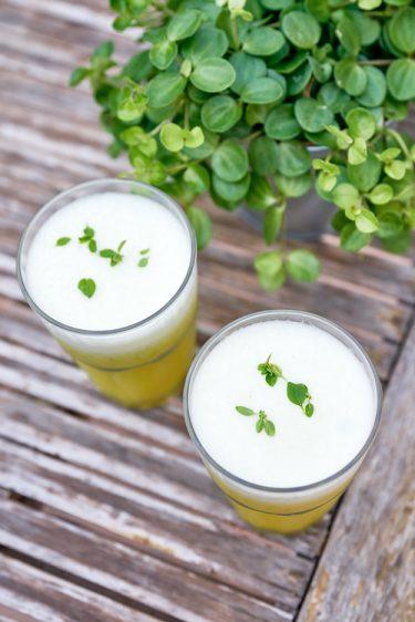 recette d'agua fresca ananas basilic