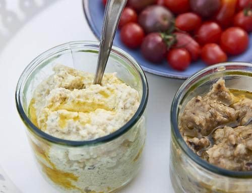 Crème de courgette au fromage frais et aux herbes
