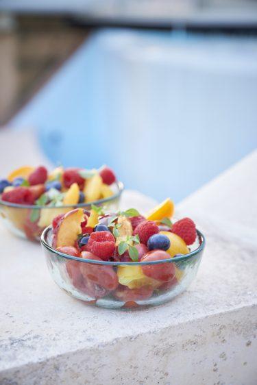 recette de salade de tomates et fruits d'été