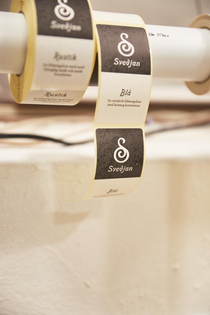Etiquettes du fromage Svedjan Ost
