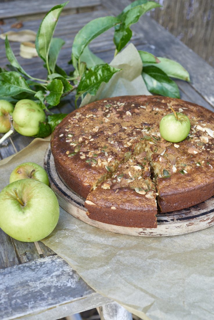 recette d'apple cake aux fruits secs