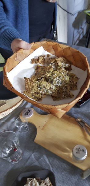 crackers au maïs et graines de tournesol