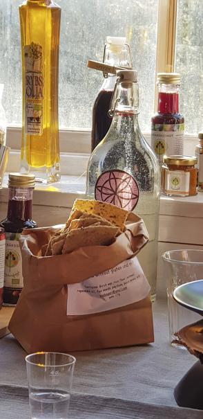 crackers sans gluten de chez Yvonnes Bageri