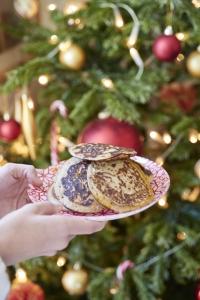recette de pancakes de Noël sans gluten