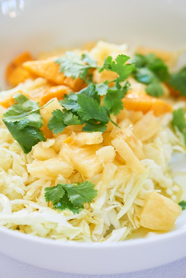 recette de choudou mangue ananas et coriandre