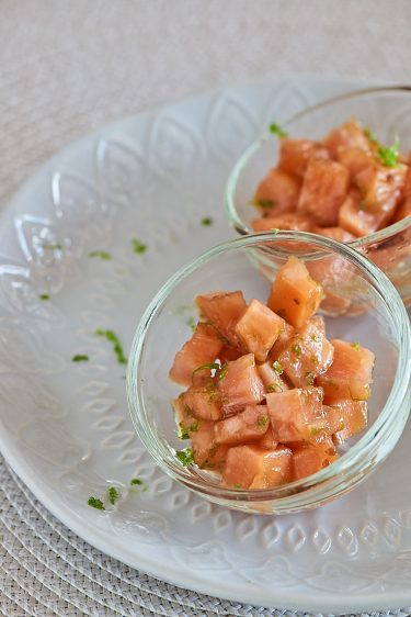 recette de tartare de saumon au citron vert