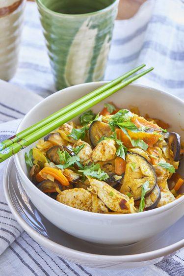 recette de wok de poulet tandoori