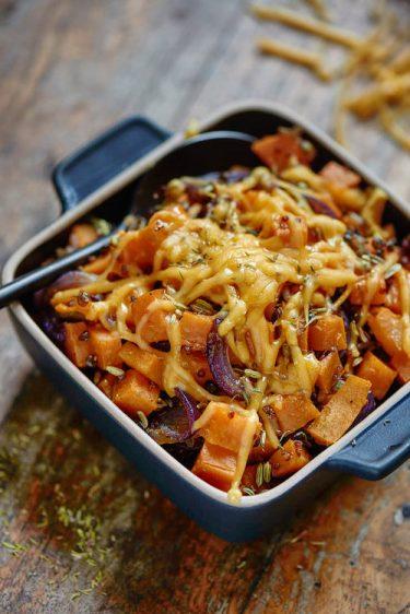 Recette de gratin de patate douce et céréales