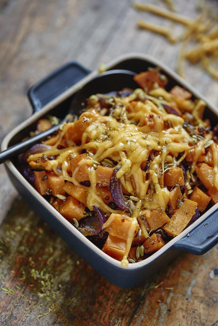 recette de gratin patate douce céréales