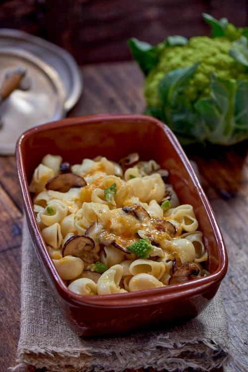 recette de gratin de pâtes et petits légumes