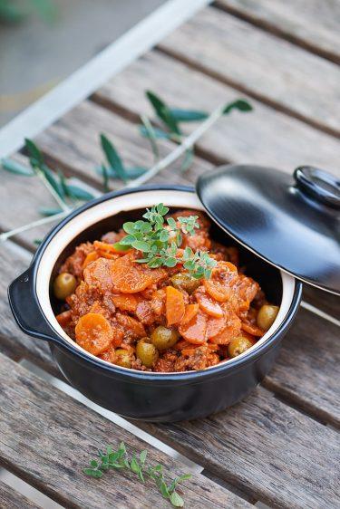 recette de fricot de carottes aux olives de ma grand-mère