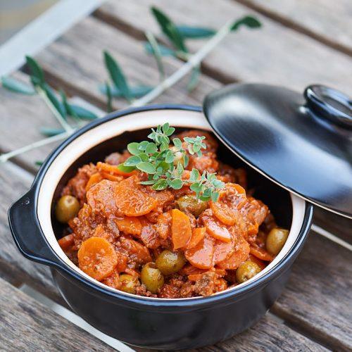 Fricot de carottes aux olives de Mamy
