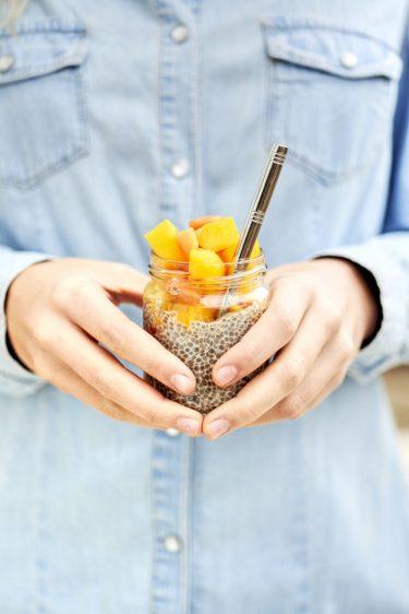 recette de pudding de chia et mangue