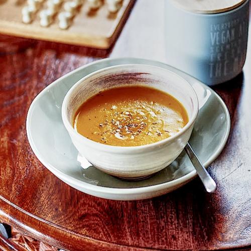 recette de soupe à la courge butternut et pomme de terre