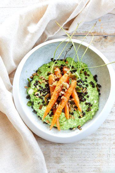 recette de carottes rôties et cottage cheese