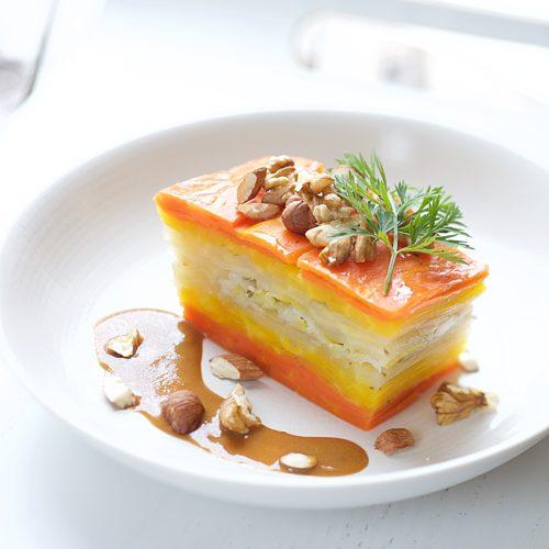 millefeuille carotte sauce miso