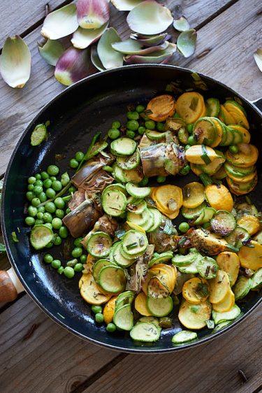recette de poêlée de légumes de printemps