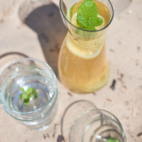 Infusion glacée au gingembre et citron