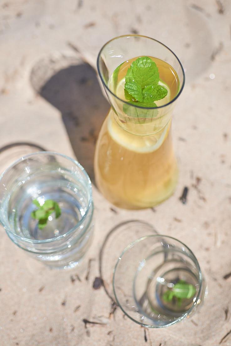 recette d'infusion glacée au gingembre et citron