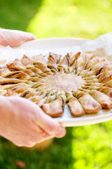 recette de tarte soleil au pistou sans gluten
