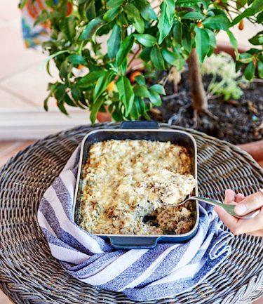 recette de gratin d'aubergine à la feta