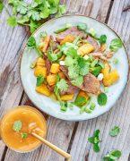 photographie culinaire d'un magret à l'ananas
