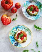 recette de légumes d'été et chèvre frais