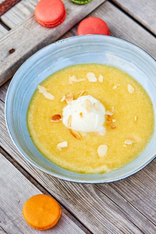recette de soupe d'ananas, poire et melon